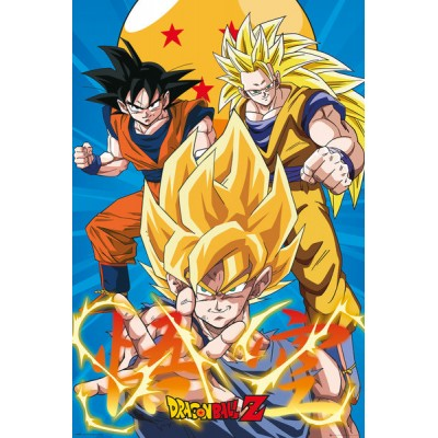 Poster - Dragon Ball Z - 3 Gokus Evo