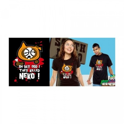 T-shirt Neko - South Neko - Noir - L