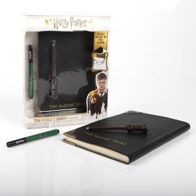 Journal Tom Jedusor + Baguette + Stylo invisible - Harry Potter