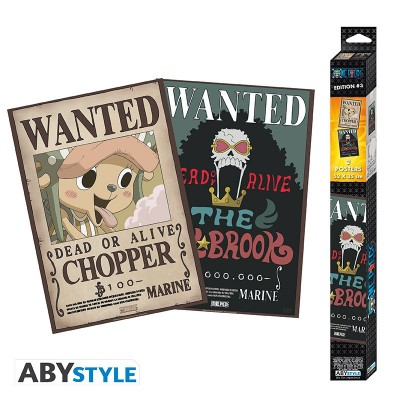 One Piece - Poster - Wanted Brook et Chopper