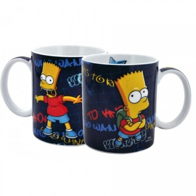 Mug - Simpsons - Bart Who Wants To Know + boîte cadeau