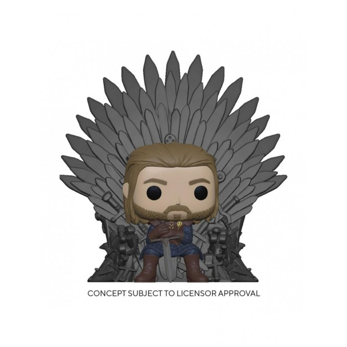 Ned Sitting on Throne - Game of Thrones (...) - POP TV