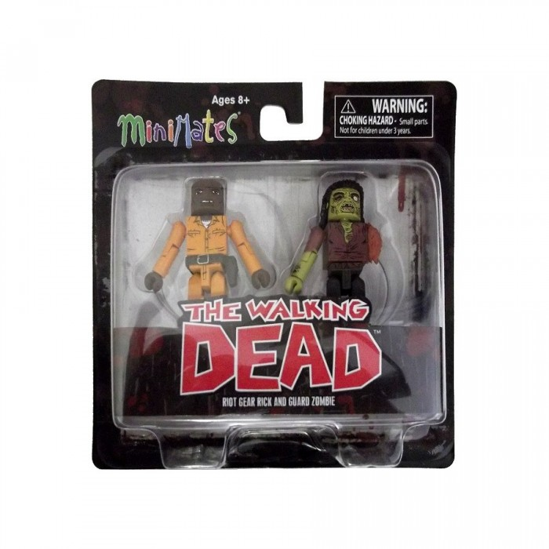 The Walking Dead  - Minimates - Dexter & Dreadlock Zombie