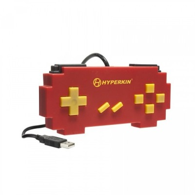Manette Super Nintendo USB - Pixel Art (Rouge)