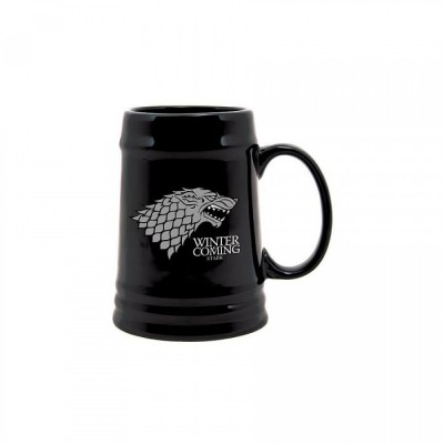 "Chope à Bière - Game Of Thrones - ""Famille Stark "" - Black"