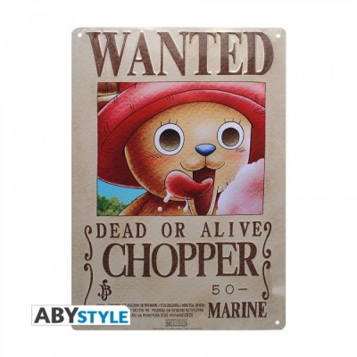 Plaque Métalique - One Piece - Chopper Wanted (28x38)