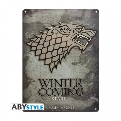 Plaque Métalique - Game of Thrones - Stark (28x38)