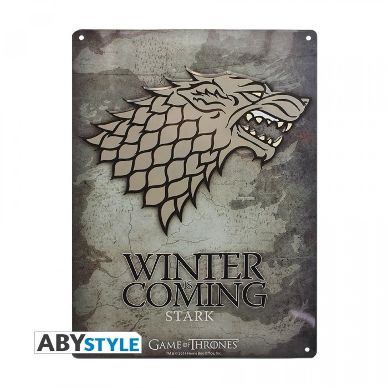 Plaque Métalique - Game of Thrones - Stark (28x38)