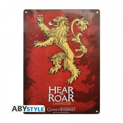 Plaque Métalique - Game of Thrones - Lannister (28x38)