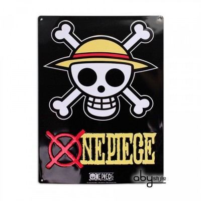 Plaque Métalique - One Piece - Skull Luffy (28x38)
