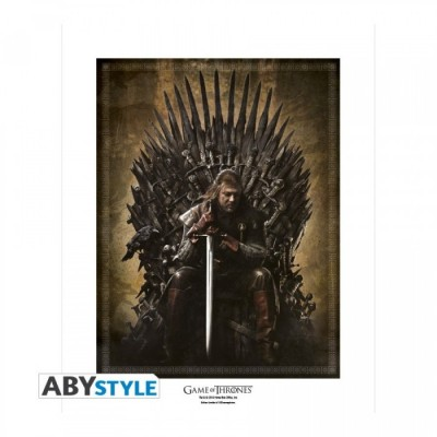 "Poster - Game Of Thrones - ArtPrint ""Trône"" (50x40)"