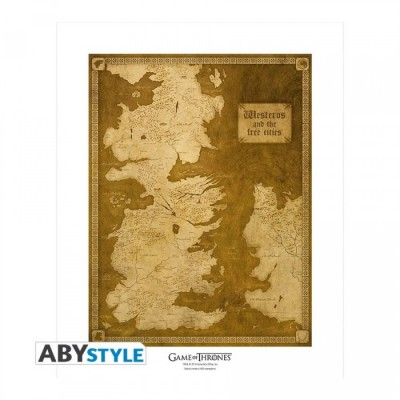"Poster - Game Of Thrones - ArtPrint ""Carte"" (50x40)"
