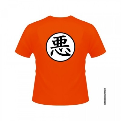 T-shirt - okiWoki - Aku (Le Mal) Façon Kimono - Dragon Ball - Fond Orange - XL